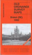 OLD ORDNANCE SURVEY MAP BRISTOL SE 1882 COLOURED EDITION