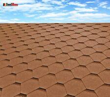 Dachschindeln Hexagonal Dreieck Form 18 m? Braun (6 Pakete) Schindeln Dachpappe