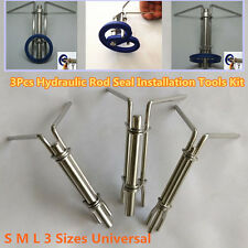 3Pcs Hydraulic Cylinder Piston Rod Seal U-cup Installation Tools Prevents Damage