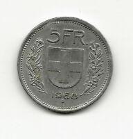 World Coins - Switzerland 5 Francs 1968 Coin KM# 40a
