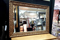 John Lewis Constantina Ornate Wall Mirror Gilt French Antique Gold 117x92cm