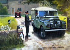 Land Rover Series 1 One Postman Birthday Dad Fathers Day Card
