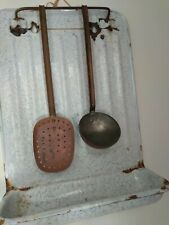 Vintage French Enamel Utensil Hanger