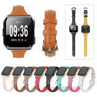 For Fitbit Versa / Lite Replacement Leather Band Wristband Watch Strap Bracelet