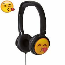 Kissing Emoji Over Ear Folding Headphones Earmoji Kids DJ Style Stereo Earphones