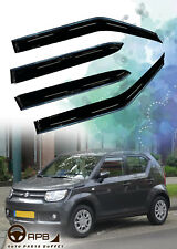 For Suzuki Ignis Chrome Trim Window Visor Guard Vent Deflector