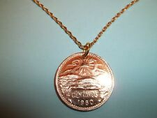 MEXICAN 20 CENTAVOS COIN - GOLD NECKLACE - 1960 - 60th BIRTHDAY