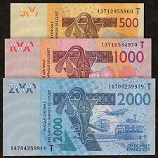 WEST AFRICAN STATES TOGO 500 - 2000 Francs SET 3 PCS 2013 P-815T 816T 819T UNC