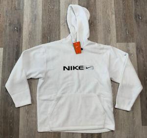 Vintage 90s Nike Fleece Hoodie White Men's Size Medium NWT RARE 🔥🔥🔥