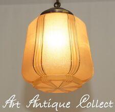 Antique ART DECO plafonnier 1930 homologue Light Art Nouveau glass antique brass