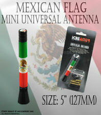 JDM 127mm Mini Mexican Flag bandera mexicana vehiculo de radio AM/FM antena R204