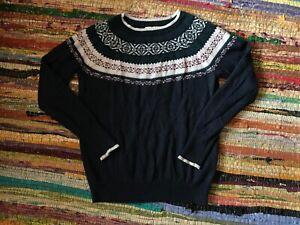 Hollister Fairisle Knit Jumper Size M