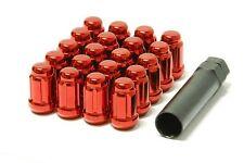 20 Pcs Spline Red Acorn Lug Nuts Thread 1/2 +key Fit Jeep Wrangler TJ YJ CJ JK