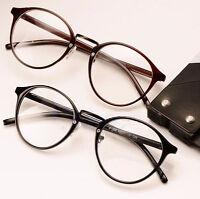 Men Women Vintage Clear Lens Eyeglasses Frame Retro Round Unisex Nerd Glasses