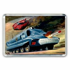 RETRO - Captain Scarlet SPV Dinky Toys Meccano Magazine ART -JUMBO FRIDGE MAGNET