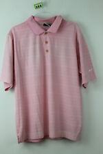 NIKE GOLF Pink Polo Shirt size M
