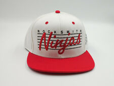 """Rocksmith Classic Material """"Ninjas"""" Embroidered White/Red Adjustable Snapback"""
