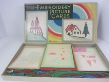 Parker Bros 1930's VTG Embroidery Picture Cards Game Boxed Set 842 Sewing Craft