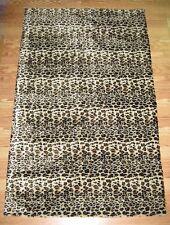 FAUX FUR CHEETAH PRINT ACCENT RUG 6' x 9' low pile soft with cushion back
