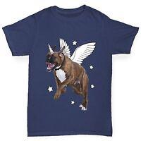 Twisted Envy Boy's Mythical Creature Unicorn Bull Dog Funny T-Shirt