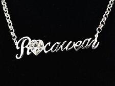 JAY-Z Rocawear Ladies Girls Heart Shape Diamante Necklace Roca & Wear Jewelry