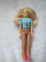 FISHER PRICE Loving Family Dollhouse BLONDE MOM Mother Lady Blue Shirt ~ Hair