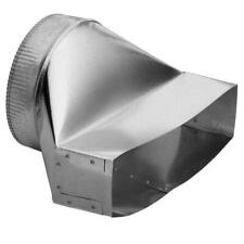 Broan Steel Duct Transition Duct Vent 3 1/4 X 14 - 8 Inch Round Galvanized Steel