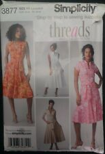 Simplicity Threads Magazine Collection Sewing Pattern 3877 Belted Dress Sz 6-14