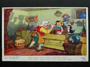 "Walt Disney PINOCCHIO ""Soon we'll go to bed"" Geppetto Said c1940 Postcard"