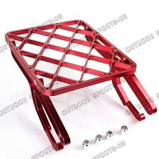CNC Billet Rear Cargo Luggage Rack Carrier For Honda CRF 450 R X 05 06 07 08 Red