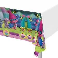 Trolls Large Plastic Tablecloth Colourful Pink White Girls Birthday Party Poppy