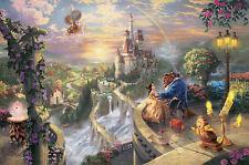 Thomas Kinkade Gallery Proof BEAUTY AND BEAST 18 x 27 Disney Canvas New Signed