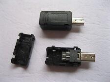 100 pcs Mini USB 8 Pin Male Socket Connector Plastic