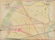 1909 Kearny, Hudson County, New Jersey, Arlington Cemetery, Copy Plat Atlas Map