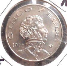 CIRCULATED 1972M  5 PESOS MEXICAN COIN! 62420