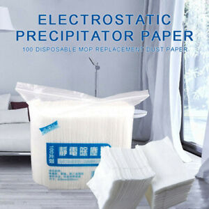 100x Disposable Electrostatic Dust Removal Mop Paper Home Kitchen Cleaning Cloth