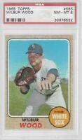 1968 Topps #585 Wilbur Wood PSA 8 NM-MT, Chicago White Sox