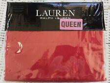Ralph Lauren QUEEN size ADMIRAL RED 4 piece Set NEW Christmas Red