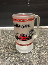 Beautiful INDIANAPOLIS 500 MOTOR SPEEDWAY Glass Mug&Shot glass In 22k Gold Print