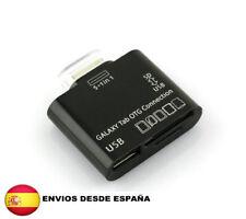 5 en 1 LECTOR DE TARJETAS USB SD MS TF PARA Samsung Galaxy Tab