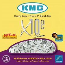 KMC X10E Bike Chain 10 Speed Cycle Chain Silver Suitable for Electric Bikes