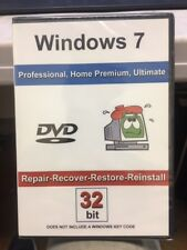 Windows 7: Repair-Recover-Restore-Reinstall 32 Bit Bootable DVD