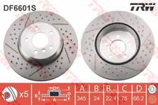 DF6601S TRW Brake Disc Rear Axle