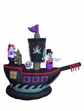 Halloween Inflatable Pirate Ship Skeleton Crews Air Blown Blowup Yard Decoration