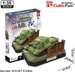 CUBIC FUN 1:35 British Cromwell Mk IV Military Tank 3D Puzzle Model Building Kit