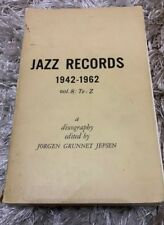 Jazz Records 1942-1962 Vol 8 : Te -Z discography by Jorgen Grunnet Jepsen 1966