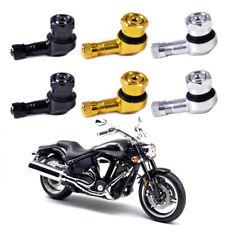 2Pcs 11.3mm Universal Motorcycle Aluminum Wheels Tire Valve Stem Caps 90 Degree