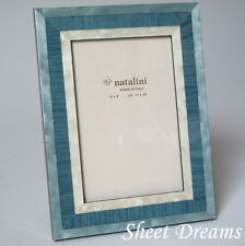 Natalini Blue Hand Made Italy Marquetry Photo Picture Frame 4x6 5x7 8x10