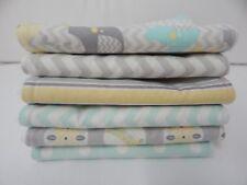 Burp Cloths 6 Mint Chevron Jungle Spots Stripes Toweling Backed