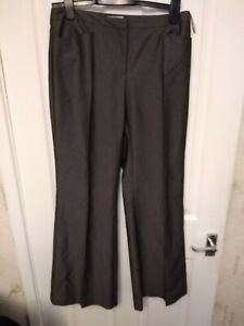 PREOWNED LADIES WAREHOUSE GREY TROUSERS SIZE 12 LEG 31